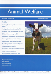 Couverture d'Animal Welfare