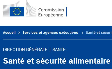 Site Commission européenne - page DG SANTE