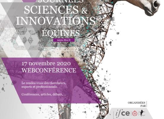 Affiche de la webconférence IFCE Journées Sciences & innovations équines 2020