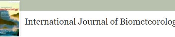 Logo de l'International Journal of Biometeorology