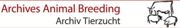 Logo d'Archives Animal Breeding